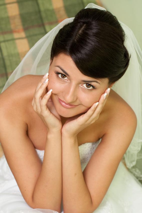 Bride on heir wedding day